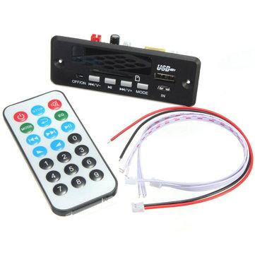 7-12V Hands Free bluetooth MP3 Decoder Board With bluetooth Module+FM