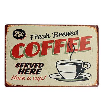 Lata de café firmar bar pub decoración de la pared del café placa de metal retro vintage