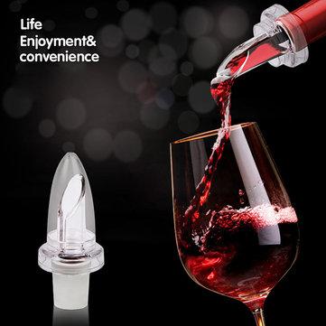 Blanco rojo aireador de vino pico vertedor tapón de la botella de aireación vertedor decantador