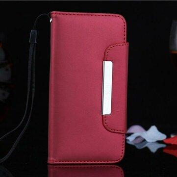 Frosted Strap Wallet PU PC Lærveske Til iPhone 6 Plus & 6s Plus