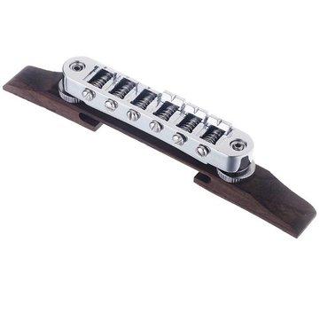 Chrome Guitar Bridge Roller Saddle Metal Rosewood Guitar Accessories