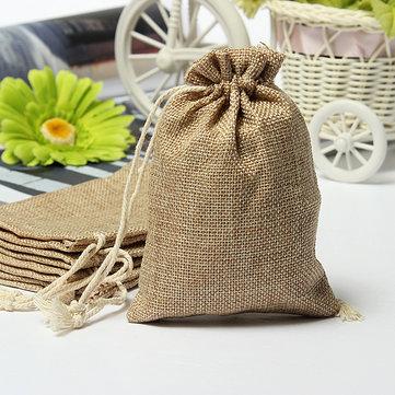 Arpillera arpillera faux los mini bolsos de la boda rústica bolsa de regalo del favor