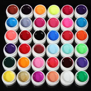 Gel UV Per Ricostruzione Unghie di 36 Colori Puri