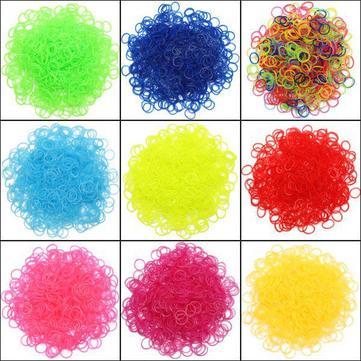 600Pcs Jelly Gear Wave Glow In The Dark Loom Rubber Bands DIY Bracelet
