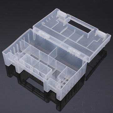 Transparent Plastic Battery Holder Storage Case AA AAA Tools Box