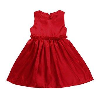 गर्ल्स ग्रीष्मकालीन समुद्र तट रेशम साटन राजकुमारी ड्रेस बेबी Sundress
