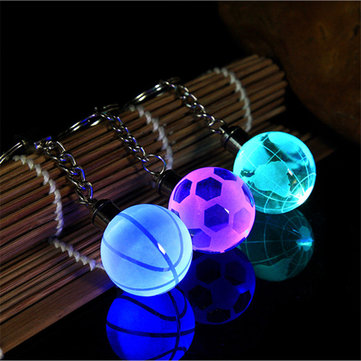 How can I buy Crystal Ball LED Keychain Creative Metal Circle Football Basketball Earth Pendant with Bitcoin