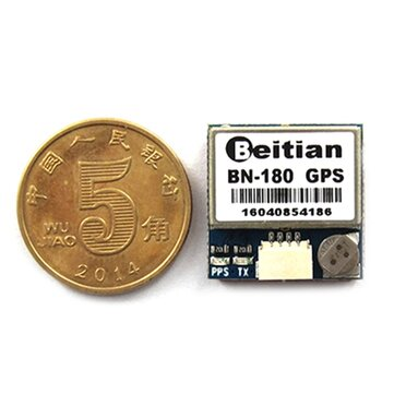 """ביתית הקטן ביותר מיני Dual GLONASS + GPS BN-180 מיקרו כפול GPS אנטנה מודול UART TTL עבור CC3D F3 RC מזל""""ט מטוס"""
