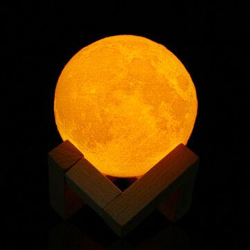 8cm Touch Sensor 3D Moon Table Lamp USB Color Changing LED Luna Night Light Kids GiftIndoor LightingfromLights & Lightingon banggood.com