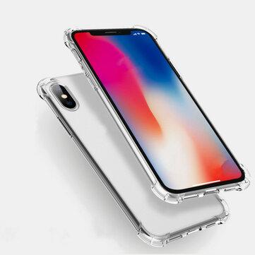 Flerfarger Luftputehjørner Støtdempende Transparent Soft Silikon TPU Veske til iPhone X