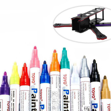 TOYO RC 8ml Marker Painting Pen Red Purple Blue Gold for Frame Kit FPV Racing Drone DIY Design