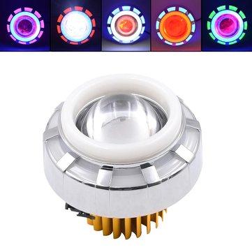 BIKIGHT 12-85V 1200LM LED faro anteriore per bicicletta elettrica 3 modi modificati occhi demoniaco moto lampada proiettore