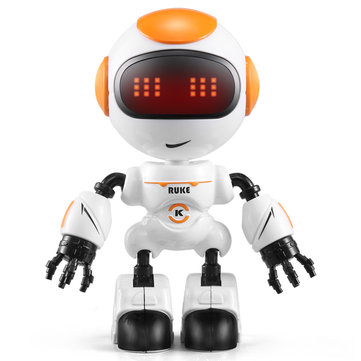 JJRC R8 RUKE टच कंट्रोल DIY जेस्चर मिनी स्मार्ट वॉयस मिश्र धातु रोबोट खिलौना