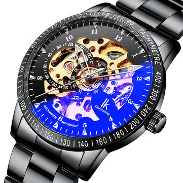 IK COLOURING 98226G Skeleton Dial Automatic Mechanical Watches Business Style Men Watch