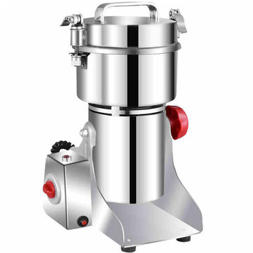JUSTBUY 800A 2500W 800g Electric Grains Spices Cereal Dry Food Grinder Mill Grinding Machine Stainless Steel Blender