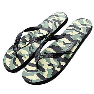 Men's Flip Flops Comfortable Casual Beach Non-slip Anti foot's Injury Camouflage Pattern Sandals