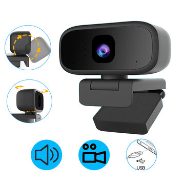 720P USB Webcam Conference Live Auto focus Computer Camera Built-in Sound Absorption Micphone for PC Laptop