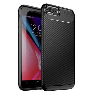 Bakeey Beskyttelsesveske til iPhone 7 Plus/8 Plus Slim Carbon Fiber Fingerprint Resistant Soft TPU Bakdeksel