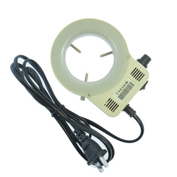 HAYEAR 20 LED Adjustable Ring Light Trinocular Stereo Microscopes illuminator Lamp For Industry Microscope Industrial Camera Magnifier