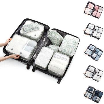 8PCS/Set Travel Luggage Organizer Storage Pouches Suitcase Packing Bags
