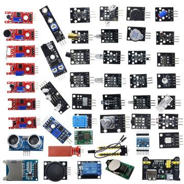 Geekcreit 45 1 Sensor Module Board Starter Kits Upgrade Version Arduino UNO R3 MEGA2560 Plastic Bag Package