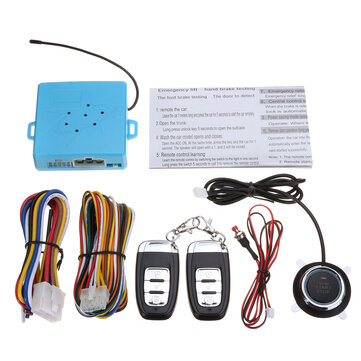 C5 Car PKE Keyless Entry System Engine Push Start Button Remote Start with Turn Light