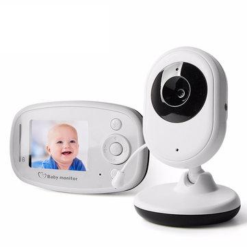 Vvcare VB-802 2.4GHz 무선 베이비 모니터 유아 라디오 베이비 시터 디지털 비디오 카메라 아기 모니터 야간 투시 온도 디스플레이 라디오 보모