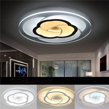 Underbar 18w modern rundblomma akryl led taklampa varm vit / vit lampa för IJ-26