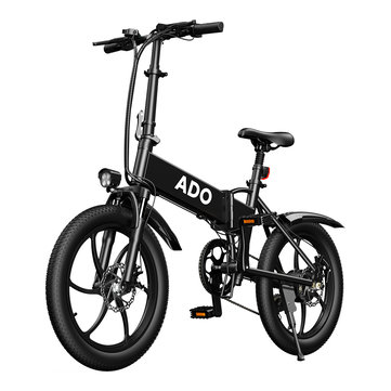 EU DIRECT ADO A20 350W 36V 10.4Ah 20 inch Electric Bike 25km or h Max Speed 80Km Mileage 120Kg Max Load Large Frame Releasable Max Speed Electric Bicycle
