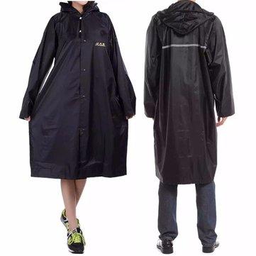 Adult Outdooors RainCoat Long Poncho Hood Thicker Reflective Types Design Work Travel Rainwear