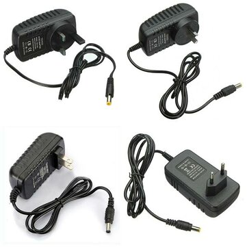 AC 100-240V Converter Adapter 12V 2A 24W Power Supply Untuk Strip LED