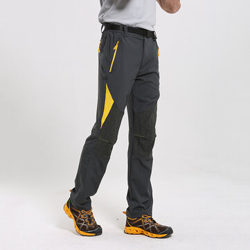 Mens Outdoor Elastic Lovers Climbing Trousers Quick Drying Korean Color Stretch Pants