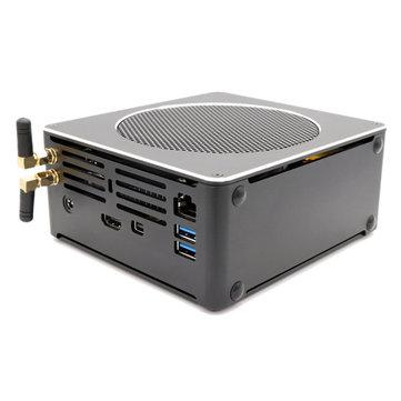HYSTOU S200 Mini PC i9 8950HK 16GB+256GB/16GB+512GB Quad Core Win10 DDR4 Intel UHD Graphics 630 4.8GHz Mini Desktop PC SATA mSATA MIC VGA 4K HDMI