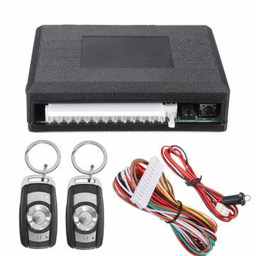 Universal Waterproof Car Kit Door Lock Vehicle Keyless Entry System + 2 Remote Key