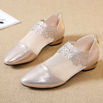Women Casual Soft Lace Flats Female Shoes