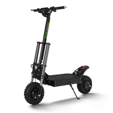 LANGFEITE T8 1200Wx2 Dual Motor 26Ah 11inch Folding Electric Scooter Top Speed 70 km/h Max. Load 150kg Double Brake System EU Plug
