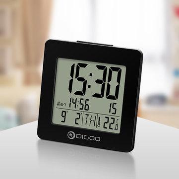 [2019 Third Digoo Carnival] Digoo DG-C2 Home Comfort Indoor Digital Blue Backlit LCD Thermometer Desk Alarm Clock 2 Alarm Setting Modes