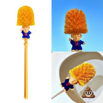 Funny Toilet Supplies Cleaning Tools WC Donald Trump Toilet Base Home Hotel Bathroom Cleaning Brush Accessories