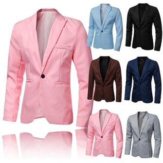 फैशन पुरुषों स्लिम आरामदायक सूट ध्रुवीय चमकदार रंग ब्लेज़र