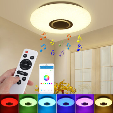 112LED Modern Dimmable Full Color RGB LED WIFI Ceiling Light with APP Remote Control