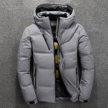 पुरुषों शीतकालीन विंडप्रूफ पनरोक मोटी गर्म जैकेट आउटडोर गद्देदार पार्क नीचे गर्म