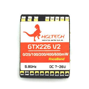 HGLRC GTX226 V2 5.8G 48CH PIT/25mW/100mW/200mW/400mW/600mW Switchable FPV Transmitter VTX RP-SMA Female