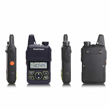 BF-T1 Frequenza 400-470MHz 20 Canali Mini Ultra-Sottile Walkie Talkie Ricetrasmittente per Guida Hotel Civile