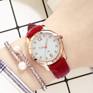 Deffrun Diamonds Elegant Design Women Wrist Watch Luminous Display Quartz Watch
