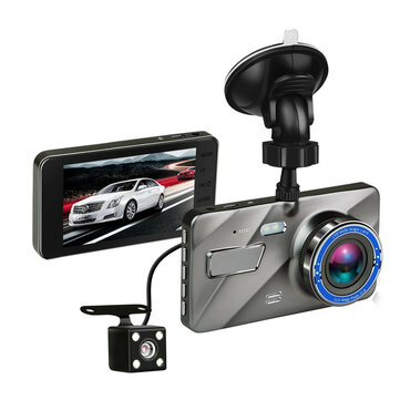 4 Inch HD 1080P Dual Lens Camera 170 Degree Car DVR Video Dash Cam Front Rear Recorder