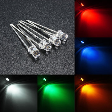 2x3x4mm Water Clear Diffused 8 Colours Rectangle Square LED Diodes USA