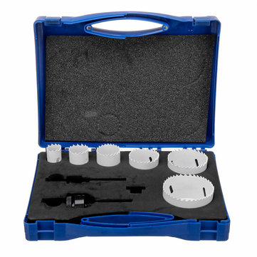 9pcs M42 Double Metal Hole Saw Cutter Hole Opener Three-way Pipe Hole Opener
