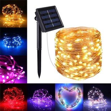 10M 100LED Solar Powered 2 Modes Fairy String Light Party Christmas Lamp Outdoor Garden Decor