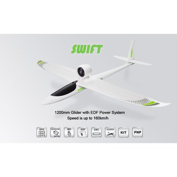 TOPRC Swift 1200mm Wingspan EPO Sport 160KM/H 64mm EDF RC Plane PNP