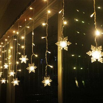 Đèn LED 3,8M Bông tuyết Chuỗi Đèn LED Đèn cổ tích 8 chế độ Đèn Giáng sinh Trang trí tiệc cưới 220-240V